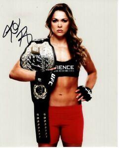 RONDA ROUSEY Signed UFC Photo w/ Hologram COA