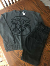Boys Outfit Gap Sweater NWT Hurley Gray Jeans VGC size 14 16