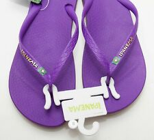 IPANEMA Purple Gold flip flops sandals toe post beach holiday shoes UK 8 NEW