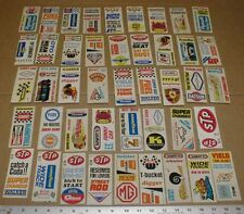 44 Fleer Dragstrip Stickshift Hurst Wynns Pure Oil Bear vtg drag racing stickers