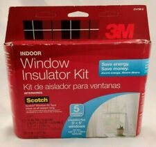 3M Indoor Window Insulator Kit Clear Film and Scotch Mounting Tape 5 3x5 Windows