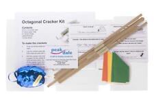 Peakdale Cracker making kit white octagonal makes 6 , hats snaps ribbon jokes