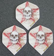 5 Packets of Brand New Ruthless Invincible Darts Flights - Skull & Red Star