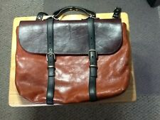Steve Mono Spain Large Tan Brown Leather Bag Satchel Messenger Bag Weekend Bag