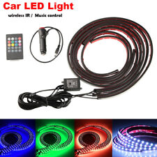 8 Color LED Strip Under Car Tube Underglow Underbody System Neon Lights Kit USA