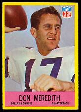 1967 PHILADELPHIA FOOTBALL #57 Don Meredith EX+ DALLAS COWBOYS College s.m.u hof