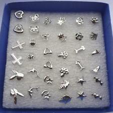48PCS lot Wholesale Lady Women's Silver Plated Stud Random Earrings Jewelry New