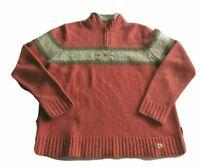 Woolrich Womens Fair Isle Nordic 100% Lambs Wool 1/4 Zip Sweater Size Medium