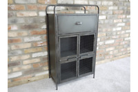 Industrial Style Rustic Metal Cabinet - Storage Unit / Small Chest - Retro