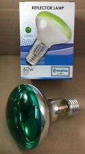 2 x 60W ES E27 R80 RO80 QUALITY CROMPTON GREEN SPOT REFLECTOR LAMP 80mm