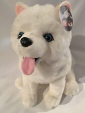 "13"" Rare Disney Iron Will Samoyed Husky Dog GUS Plush Mint Original Tag!!!!!"