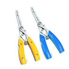 Stainless Steel Fishing Plier Scissors Hook Remover Line Cutter & Crimp sleeves