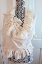 Pretty Forte Ivory Cashmere Ruffled Wrap – NWT - $310
