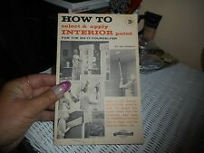 Vintage Montgomery Wards Flyer How to Select & Apply Interior Paint