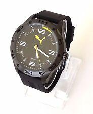 Puma Herren Uhr Time schwarz gelb weiß Silikon PU104211003