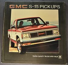 1984 GMC S-15 Pickup Truck Brochure Gypsy High Sierra 4x4 Excellent Original 84