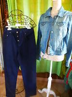38 NEUF ,griffé pantalon ,bleu marine foncé coupe droite homme  blouson délavé