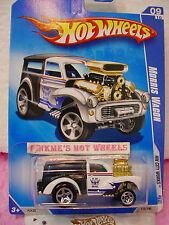 2009 Hot Wheels Morris Carro #115/190 ∞ Bianco/Nero Hw Maglia ~ Hw Città Lavori