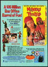 MONKEY TROUBLE__Original 1994 Trade AD / movie promo__THORA BIRCH__MIMI ROGERS