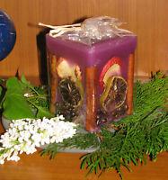 Früchtekerze -Kerze mit Früchten-fruchtig/vanillig- 8x10 cm - Duftkerze*Wellness
