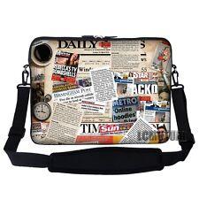 """15.6"""" Laptop Computer Sleeve Case Bag w Hidden Handle & Shoulder Strap 2804"""