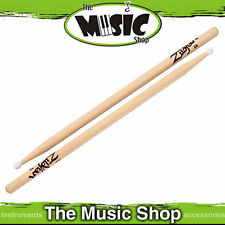 Set of  Zildjian 5A Natural Hickory Drumsticks with Wood Tip - 5A Drum Sticks