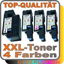 4x XXL Toner X-Jet  für Epson C1700 Toner-Kit Tonerkartuschen bk c m y