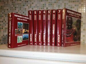 Visitando il mondo. Enciclopedia viaggi viaggiatore Mondadori 9 volumi COMPLETA