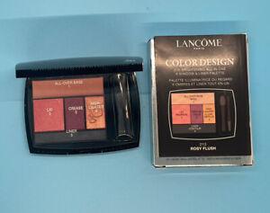 Lancome Color Design 5 Shadow & Liner Palette - Rosy Flush 213 - BNIB