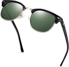 New Polarized Retro Sunglasses Mens Womens Vintage Designer Metal Half Frame Usa