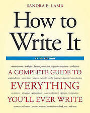 How To Write It, Third Edition by Sandra E. Lamb (Paperback, 2011)