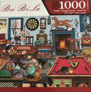 1000 Piece Jigsaw Puzzle Cats Games Galore 69 x 51cm  Gifts New Fast Shipping AU