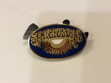 GRATEFUL DEAD AOXOMOXOA  1 1/2 in OVAL 1980's ERA DEAD RELIX PIN