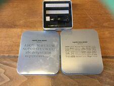 MAKING MEMORIES Magnetic Stamp Set - Magnets, Alphabet & Words - Excellent!