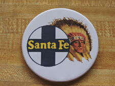 "10 Each Coasters 3.5"" wide Santa Fe Railroad Chief Made in Usa"