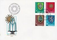 SW183) Switzerland 1980 Pro Juventute - Municipal Coat of Arms FDC.