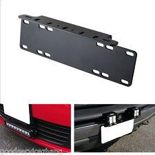 Front Bumper License Plate Mount Bracket Holder for Offroad Lamps/LED Light Bar
