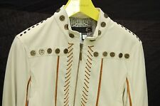 SUPER  GORGEOUS !!! JUST CAVALLI MEN  SOFT LEATHER BIKER JACKET EU 48 US 38