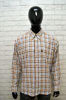 Camicia a Quadri Uomo BARBOUR Taglia 2XL Polo Camicetta Manica Lunga Shirt Men