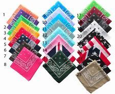 bandana headwrap homme femme couleur au choix noir, blanc, rouge, jaune, rose...