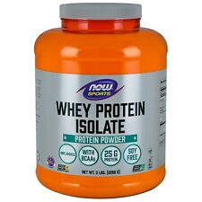 NOW Foods Whey Protein Isolate, Unflavored, 5 lb.