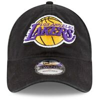 NEW ERA 9TWENTY ADJUSTABLE HAT.  NBA.  LOS ANGELES LAKERS.  BLACK