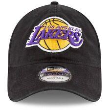 NEW ERA 9TWENTY ADJUSTABLE HAT.  NBA.  LOS ANGELES LAKERS.  BLACK