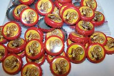 100 SHINER BOCK RAMS HEAD BEER BOTTLE CAPS RED YELLOW NO DENTS FAST SHPNG