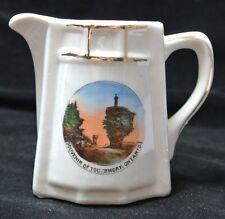 Vintage SOUVENIR OF TOBERMORY, ONTARIO CERAMIC CREAMER - Flower Pot Island