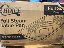 50case Choice Full Size Foil Deep Steam Table Catering Pan 3 38 Inches Deep