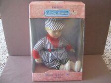 "Vtg. Genuine Porcelain Boy Doll ""Baseball Player"" Mib"