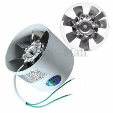 4'' Inline Ducting Fan Booster Exhaust Blower Air Cooling Filter Vent Metal Fans