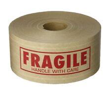 "Kraft Water Activated Gummed Fragile Tape  2.75"" x 450' - 2 Rolls"