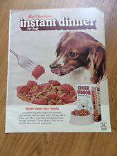 1971 Purina Chuck Wagon Dog Food Ad Instand Dinner for Dogs